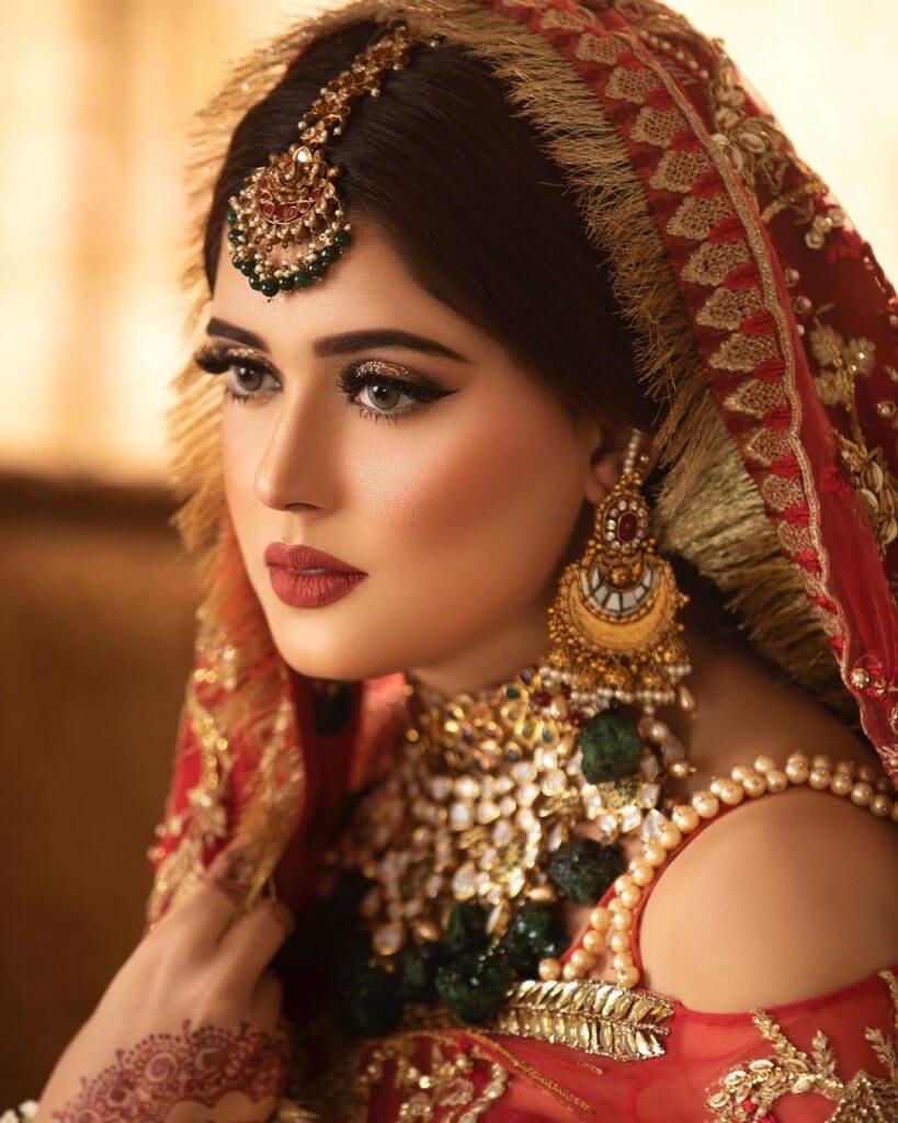 Beautiful Actress Kanwal Aftab Bridal Look Clicks