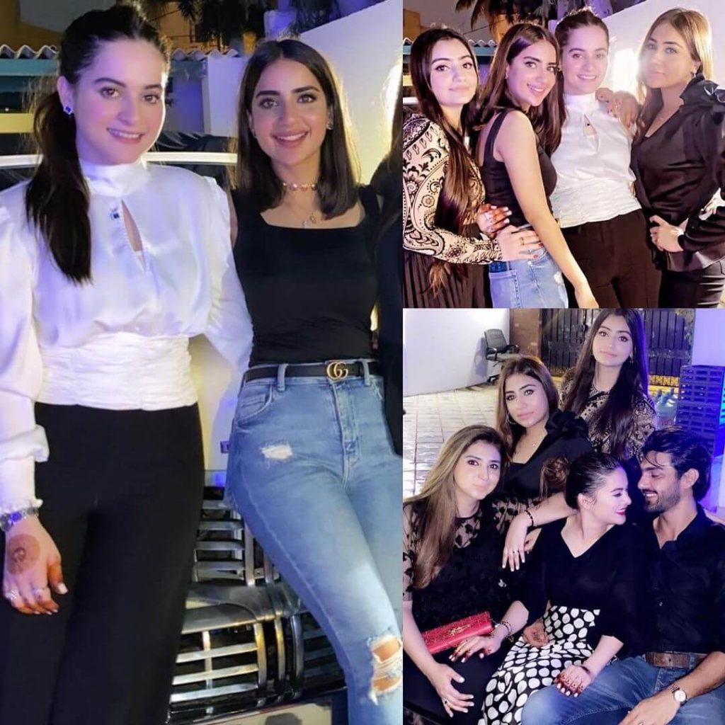 Inside Minal Khan-Ahsan Mohsin Ikram's Engagement Party: Sister Aiman Khan, Saboor Ali, Attend. See pics