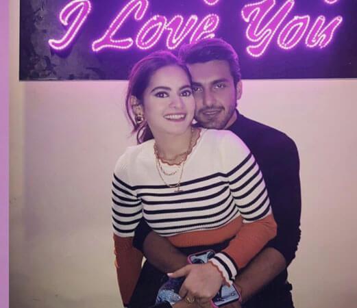 Photos: Ahsan Mohsin Ikram-Minal Khan's Engagement Sard Is As Perfect As Their Couple