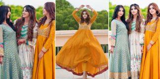 Actress Jannat Mirza Celebrates eid with her Sisters Sehar Mirza and Alishba Anjum