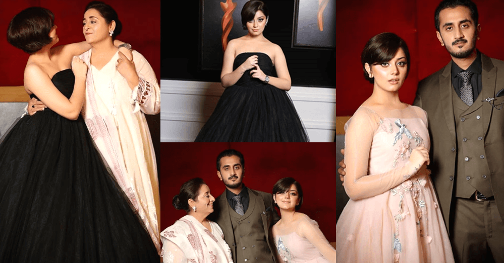 Alizeh's mother and brother attend the Hum Style Awards