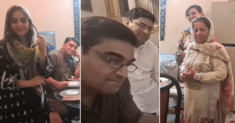 Beautiful Family Pictures of Nadia Khan With Her Husband And In-Laws