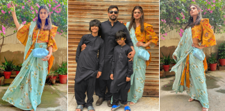 Eid Pictures of Hira Mani And Her Family