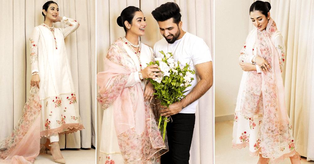 IN PICS Sarah Khan And Falak Shabir Greet Their Fans On Eid
