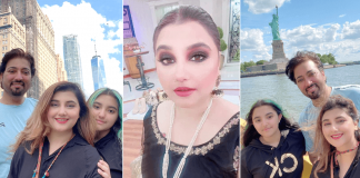 Javeria Saud is vacationing in USA with husband Saud Qasmi and her daughter. See pics