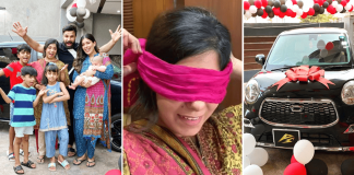 Raheem Pardesi gifts wife Sumera new car on wedding anniversary