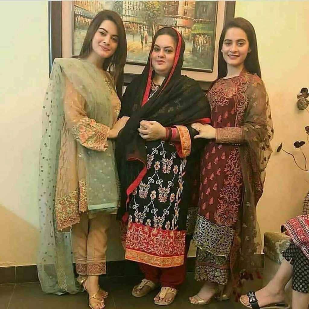 Aiman Khan And Minal Khan Eid Pictures 2021