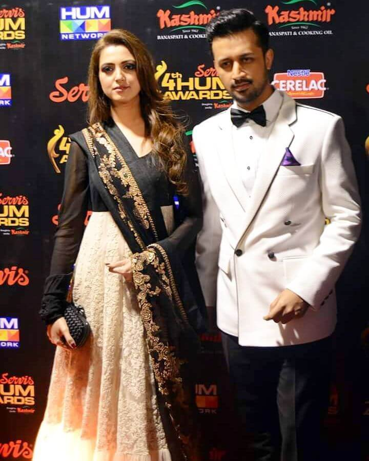 Latest Pictures of Atif Aslam With His Wife