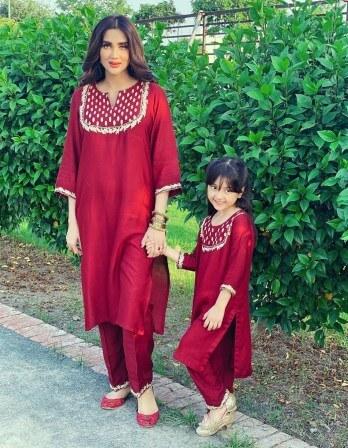 Fiza Ali Celebrating Eid Ul Adha With Daughter Faraal Fawad