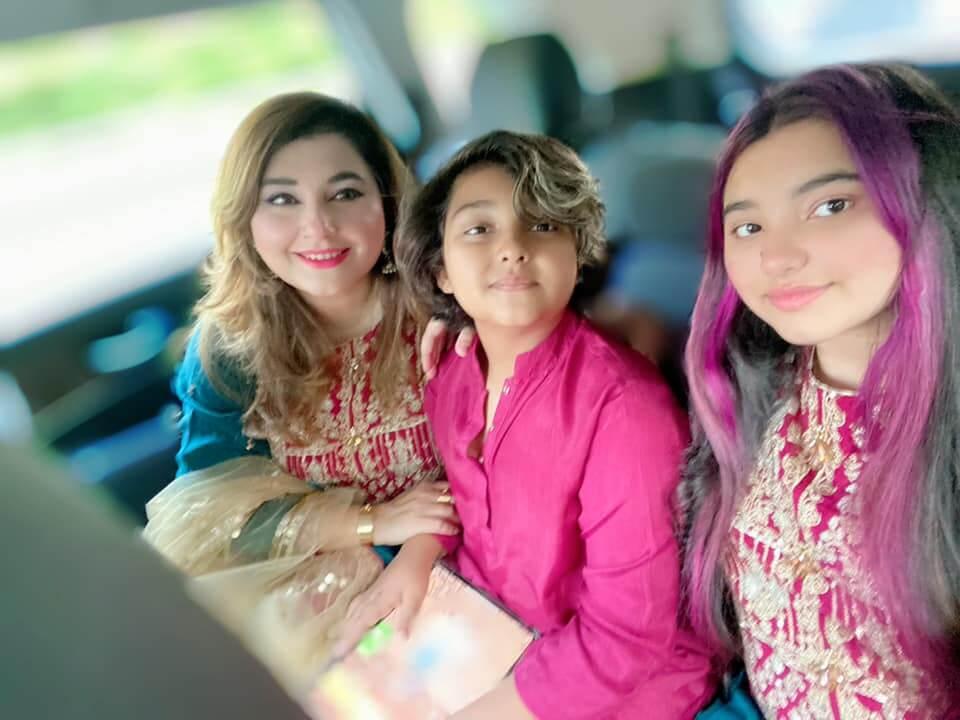 Javeria Saud and Saud Qasmi Celebrating Eid With Family