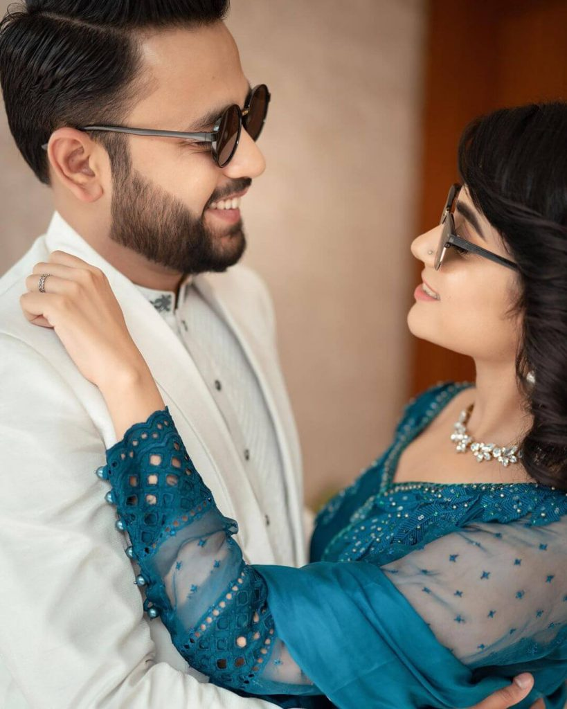 Qazi Shumail And Actress Kompal Iqbal Engagement Pictures
