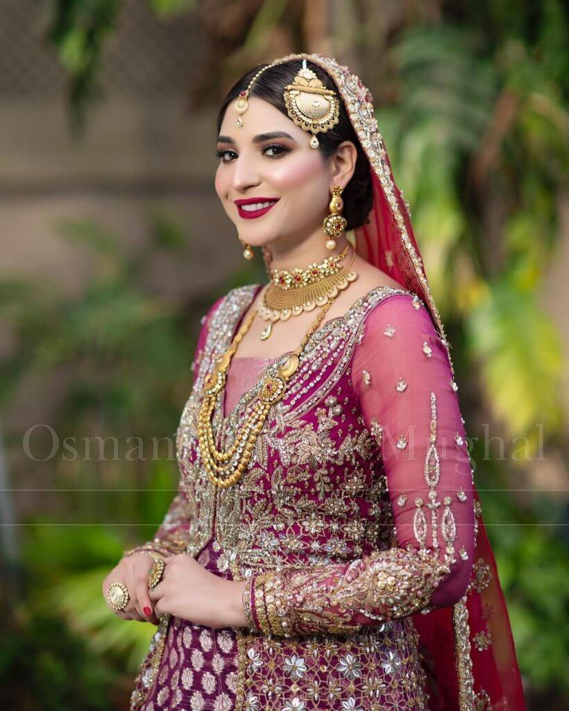 Ramsha Khan Lovely and Adorable Clicks In Bridal Collection