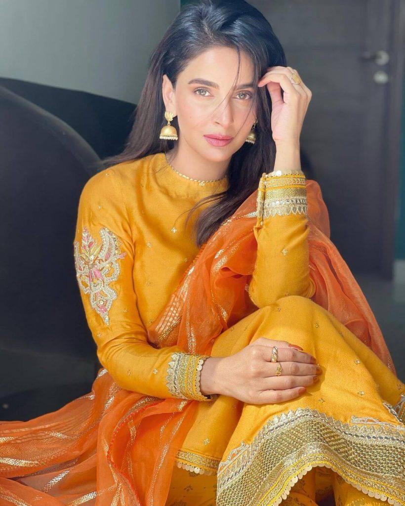 Saba Qamar Dazzles In Her Latest Eid Pictures