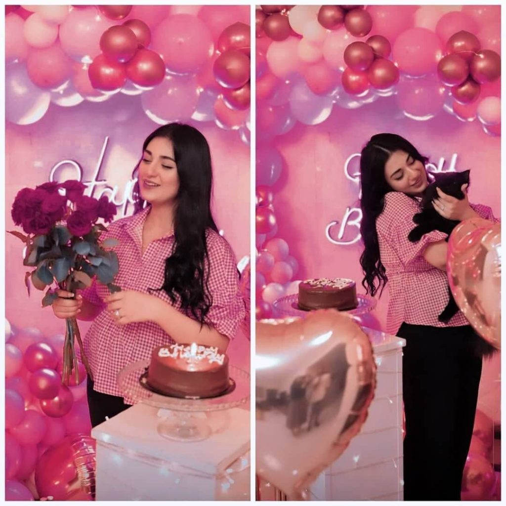 Pictures From Falak Shabir's Wife, Sarah Khan 28th Birthday