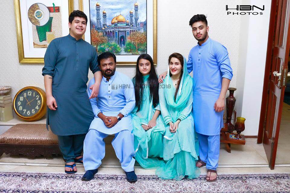 Shaista Lodhi Spending Eid With Family