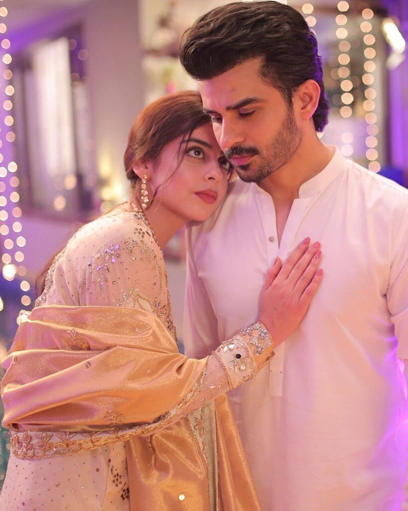 Wedding Photos of Fahad Sheikh And Yashma Gill On The Set Of  Azmaish Drama