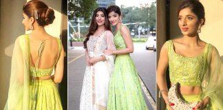 Beautiful Pictures of Mawra Hocane Wearing Green Dress