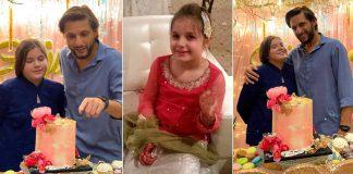 Beautiful Pictures of Shahid Afridi on Ajwa 11th Birthday