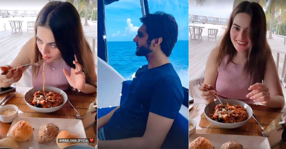 Minal Khan And Ahsan Mohsin Ikram New Pictures on Their Honeymoon