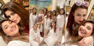 Nand Actress Javeria Saud Enjoying Dinner Party With Friends