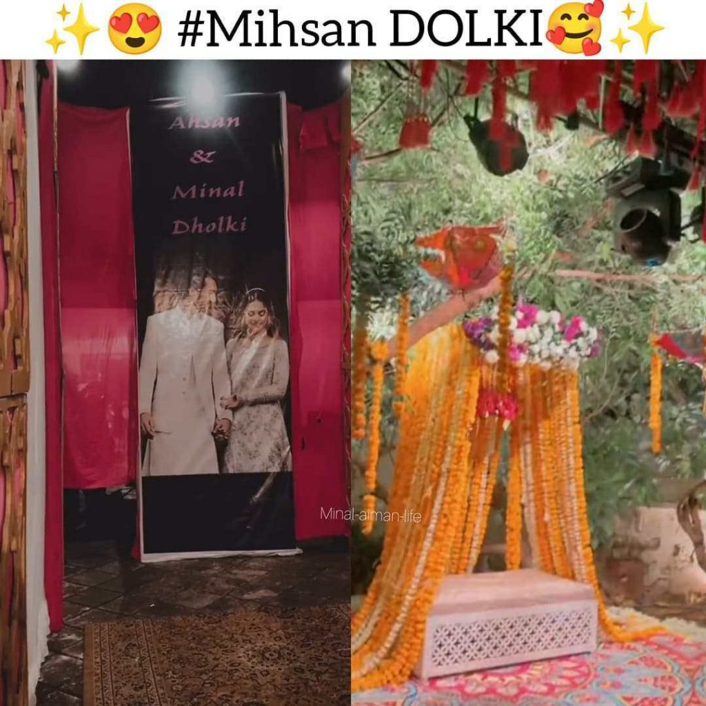 Beautiful Pictures of Minal and Ahsan's Dholki Night