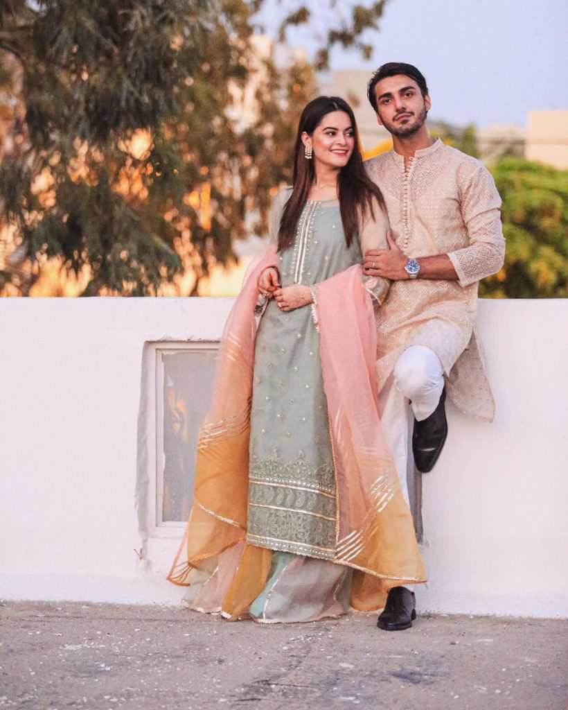 Minal Khan and Ahsan Mohsin Ikram make the first public appearance