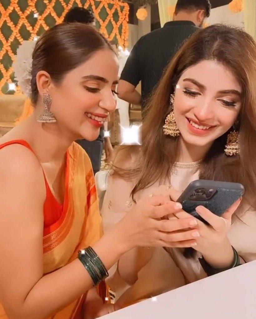 Pakistani Celebrities Spotted At Minal Khan Mayun Party