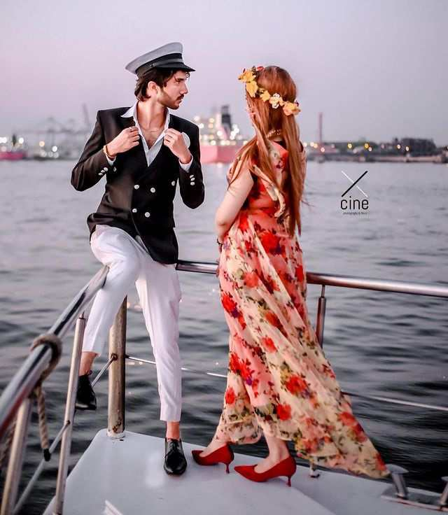 Beautiful Clicks of Rabeeca Khan With Her Best Friend Hussain Tareen