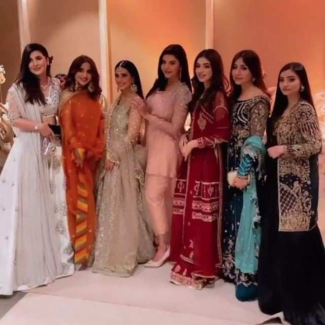 In Pics: Saboor Ali Attends Minal Khan's Wedding Party