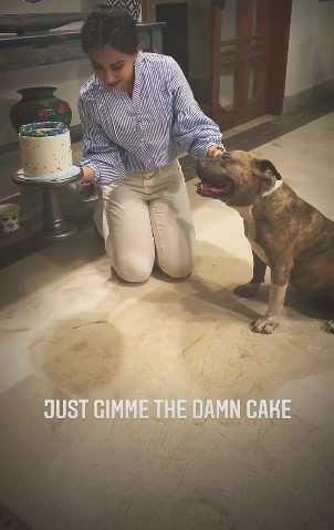 Ushna Shah celebrates pet dog Narco's birthday