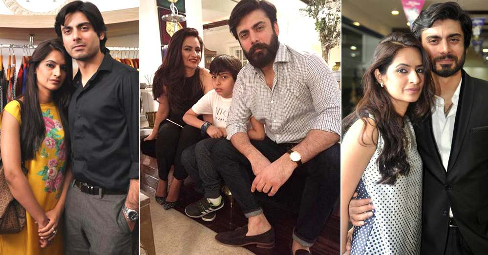 Fawad Khan Beautiful Pictures With Wife And Son