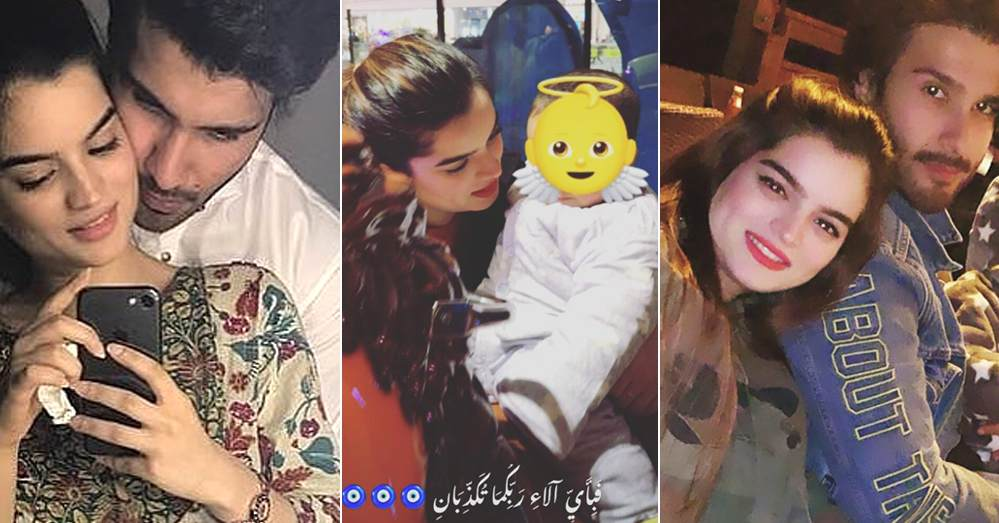 Feroze Khan and Alizey Fatima share adorable family photos