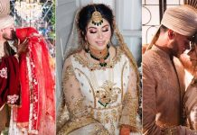 Inside Sunny and Mariam's first dreamy photoshoot as a married couple