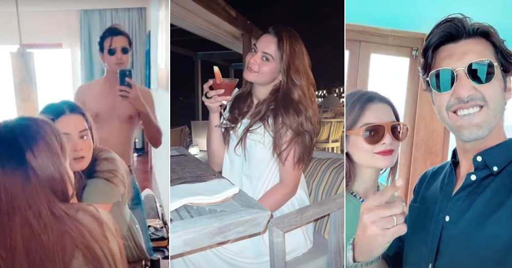 Minal Khan New Pictures With Husband