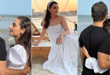 Momal Sheikh enjoys a lovely beach vacation with husband Nadir; see pics