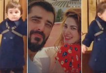 Naimal Khawar – Hamza Ali Abbasi's toddler son Mustafa takes his first steps – Watch VIDEO