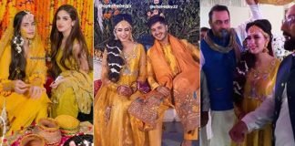 Shahveer Jafry and Ayesha Beig - Adorable pictures from Mehndi Ceremony