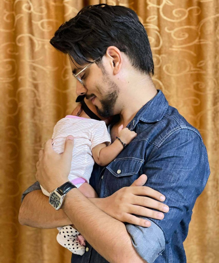 WATCH: Ahmed Godil and Asra Ahmed introduce baby daughter