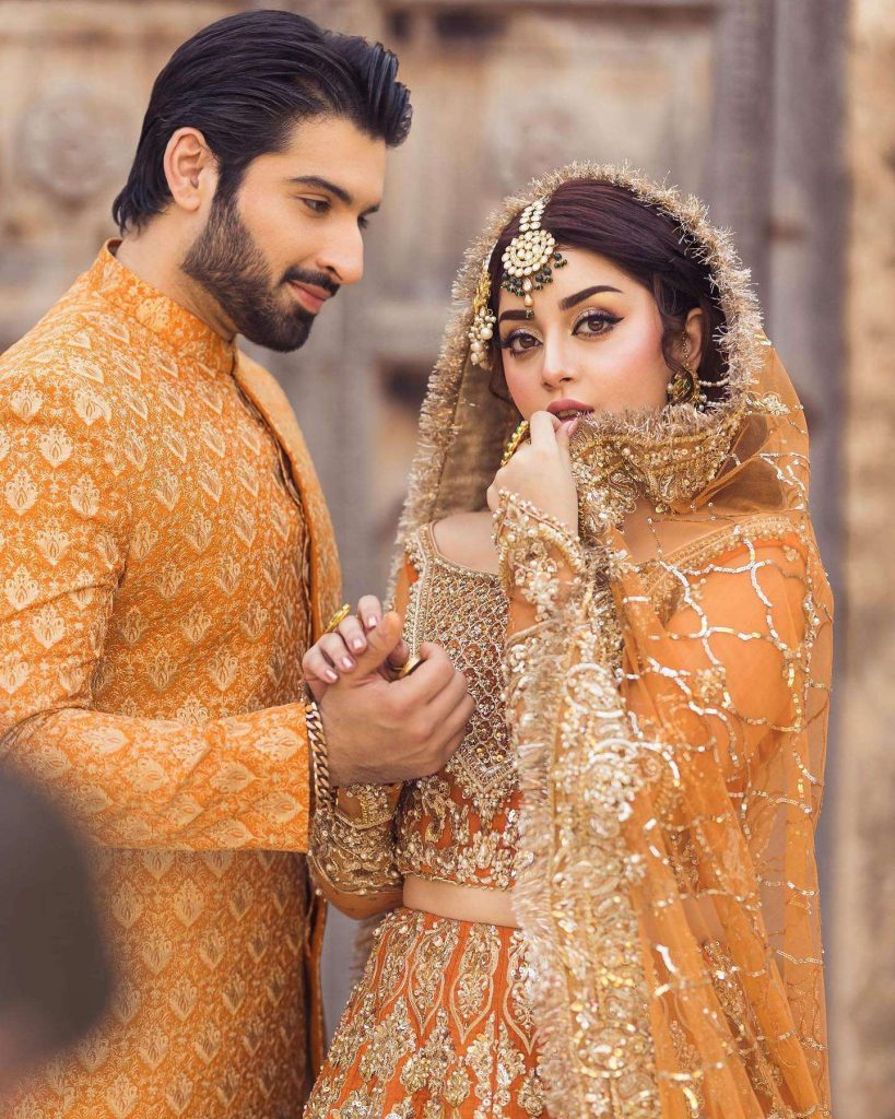 Muneeb Butt can't take his eyes off Alizeh Shah in these new pics