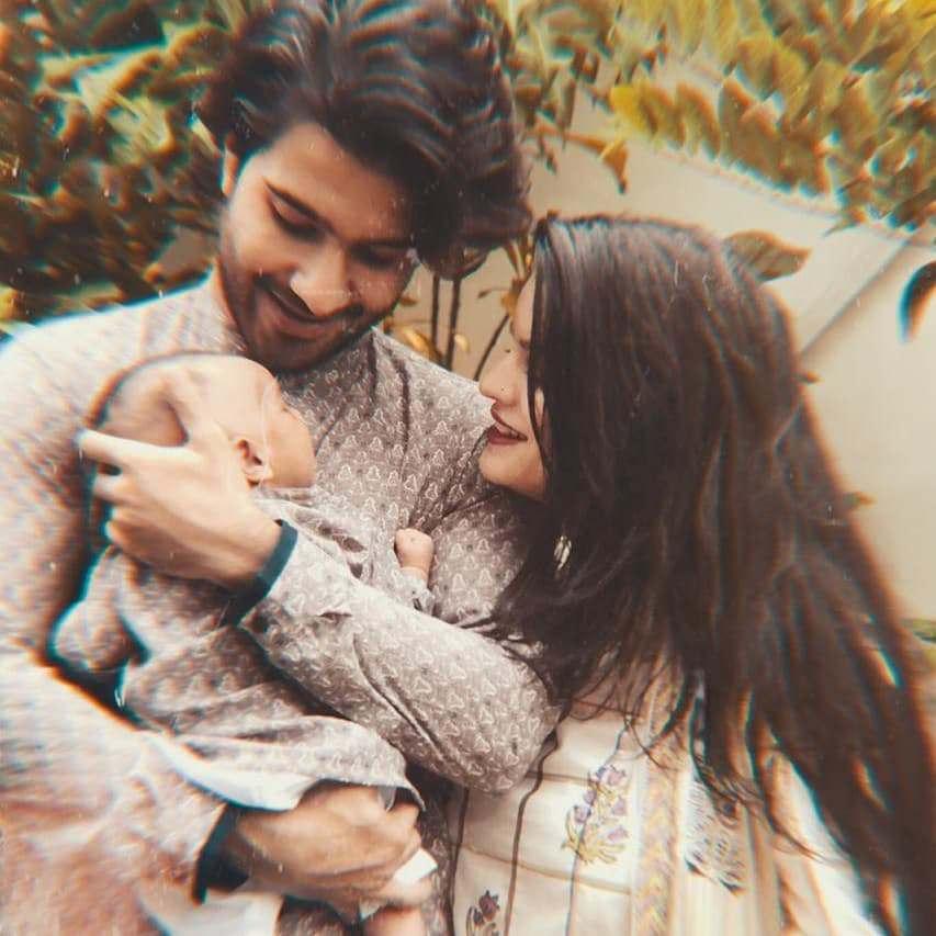 Feroze Khan snapped with wife Alizey Fatima