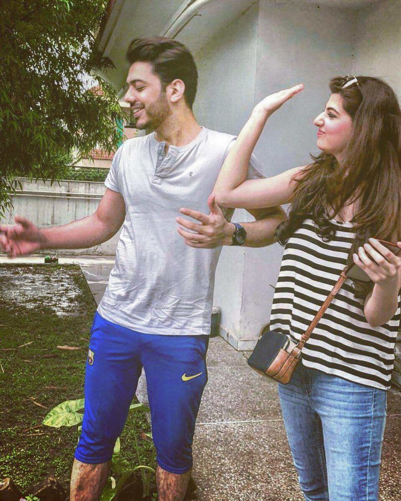 Goher Mumtaz shares new adorable pics with wife Anam Ahmed
