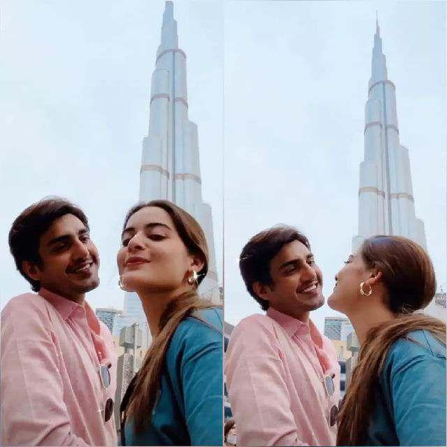 Minal Khan shares a sweet photo with husband Ahsan from Dubai