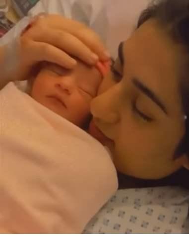 First pics of Sarah Khan and Falak Shabir's baby girl